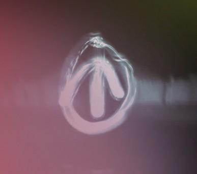 ATI logo light painting