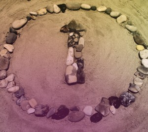 ATI logo made of rocks